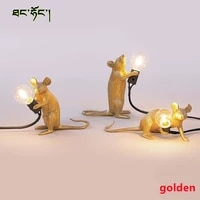 resin animal mini mouse lamp table lamp living room bedroom bedside dining room personality eye protection decorative lamp