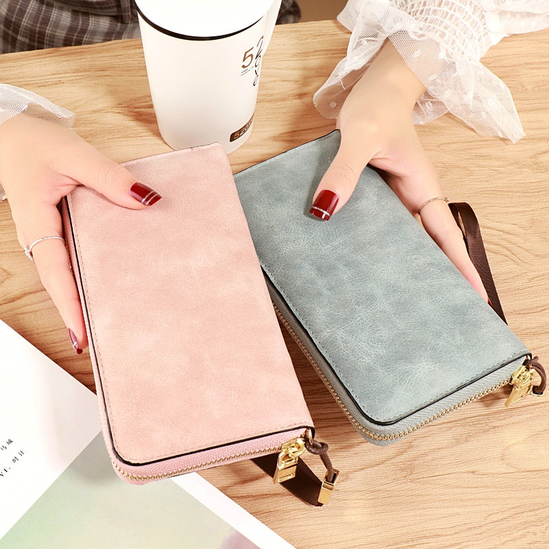 Brand Designer Wristband Wallets Women Many Departments Clutch Wallet Female Long Large Card Purse L
