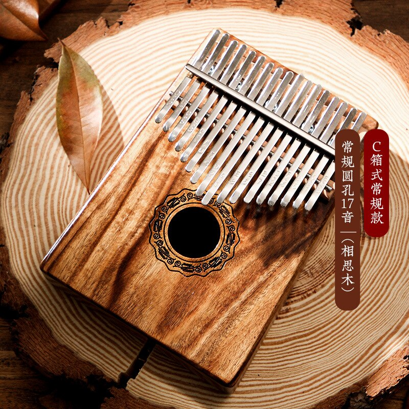 Hluru Kalimba 17 Key Full Solid Thumb Piano 21 Key Professional Finger Wooden Mbira Acacia Musical Instrument For Beginners enlarge
