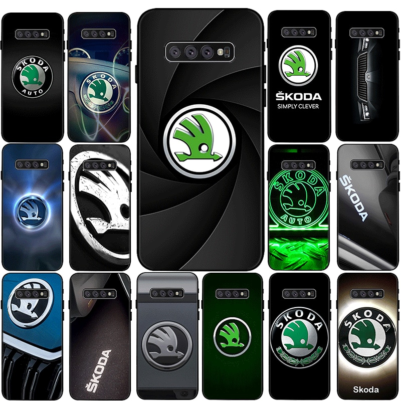 Skoda car Couple Silicone Phone Case for Samsung Galaxy S6 S7 Edge S8 S9 S10 S20 Plus Lite S20 Ultra