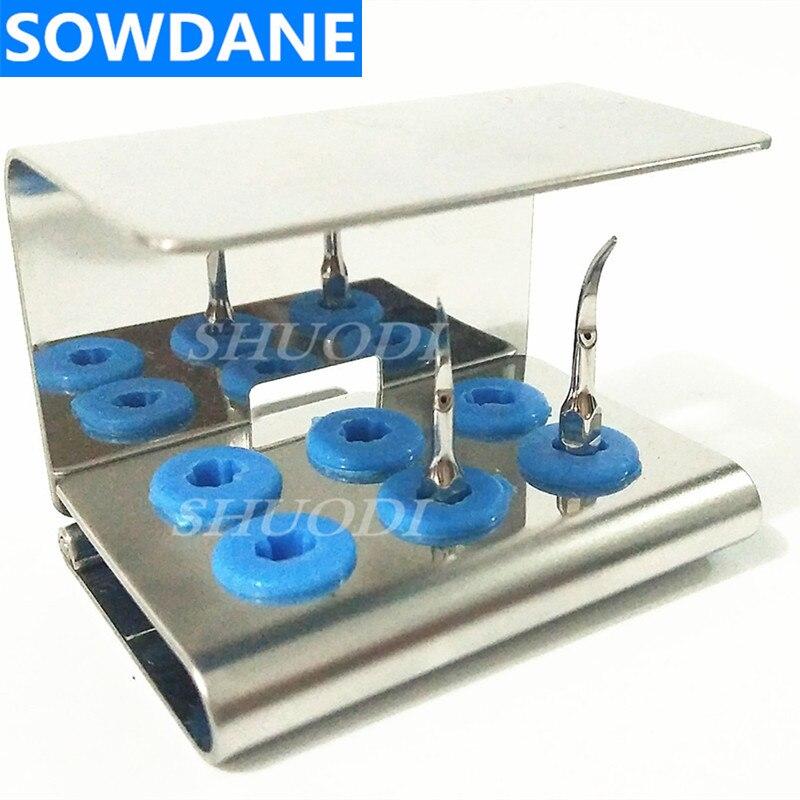 Soporte de bloque de esterilización Dental 6 agujeros para escarificador ultrasónico, puntas de blanqueamiento Dental, puntas de desinfección de trabajo