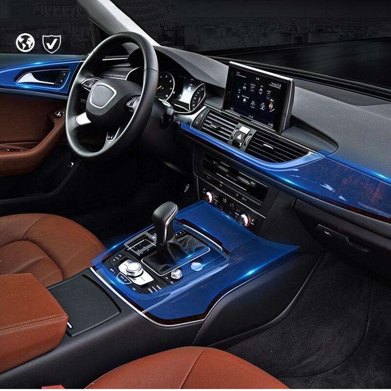 For Audi A4 2016 TPU Transparent Car Dashboard Navigation Screen Protective Film Sticker Scratch Resistant Anti-Fingerprint enlarge