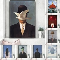 rene magritte canvas painting surrealism classic artwork reproduction posters and print wall art picture cuadros for living room