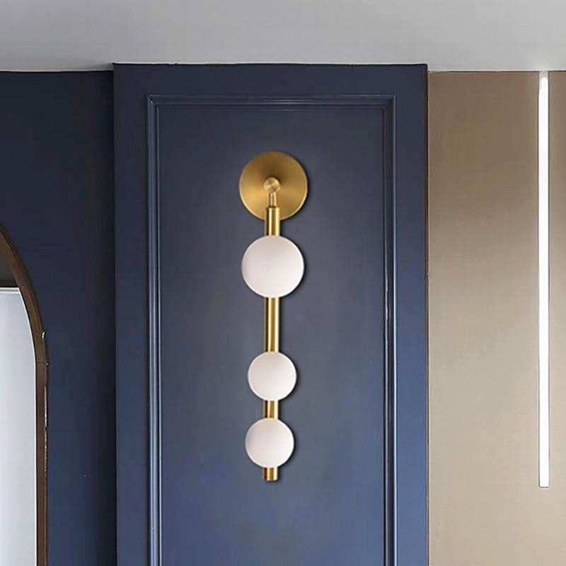 Artpad-شمعدانات جدارية مزخرفة وإضاءة للممر والحمام وخلفية تلفزيون معدنية ذهبية سوداء ، مرآة حائط مزخرفة G9
