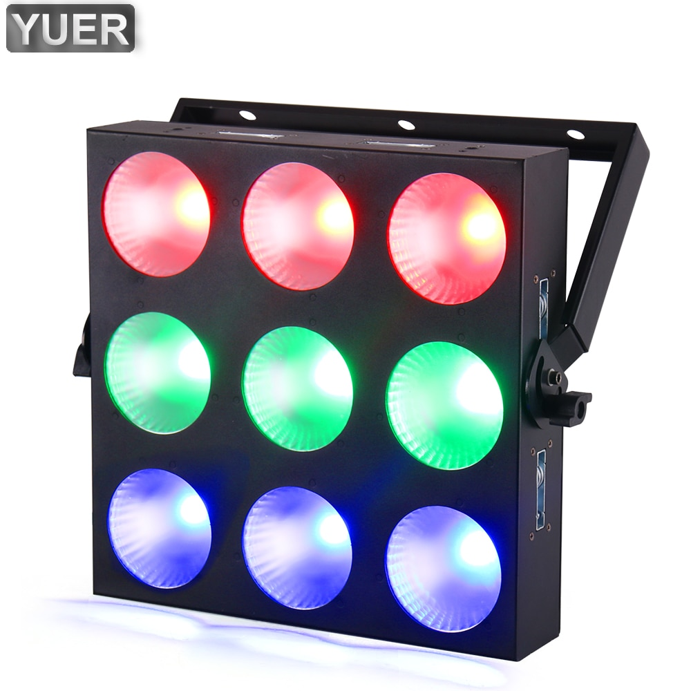 MINI 9x10W RGB 3IN1 LED Matrix Lighting With DMX 512 3CH/14CH/29CH Channel For DJ Disco Party Stage Effect Show Lamp