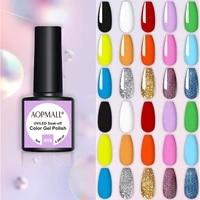 8ml uvled semi permanent rainbow colorful gel polish hybrid varnish soak off uv led nail art gel lacquer