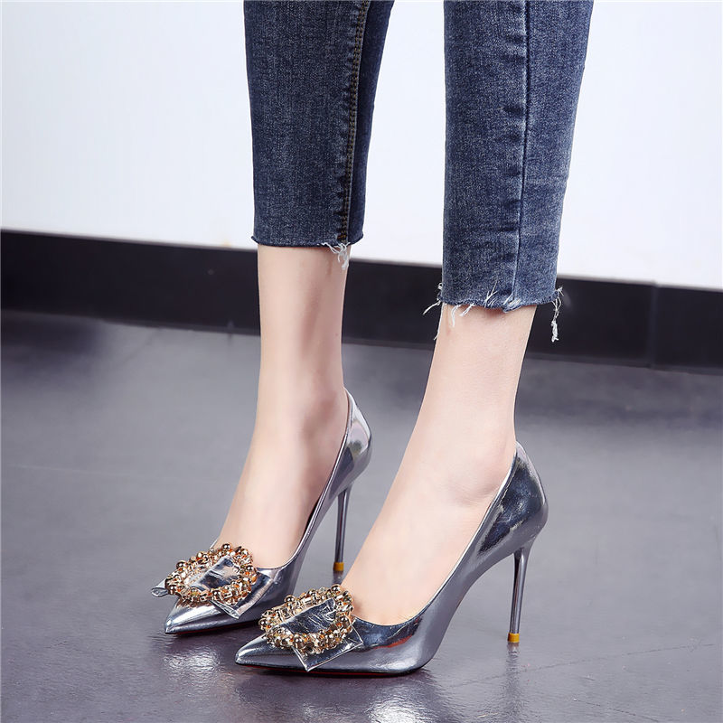 fragrantlily new women plus size big bow tie pumps butterfly pointed stiletto pointed toe woman wedding high heels shoes bowknot Women Shoes Shallow Pumps Sexy High Heels Shoes Stiletto Pumps Fashion Pointed Toe Patent Leather Heels Wedding Shoes