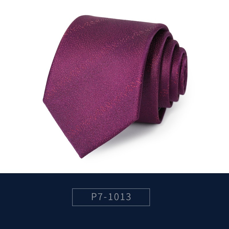 2020 Brand New Fashion High Quality Men 7CM Pattern Red Pink Purple Necktie Wedding Formal Suit Neck Tie for Men with Gift Box