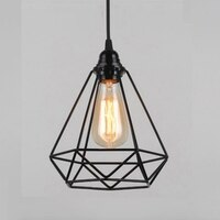 Vintage Pendant Lamp E27 Chandelier Ceiling Lights (No Bulbs) Industrial Retro Style (Cage Shape)