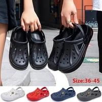 men women summer beach sandals comfortable eva couple solid color clogs shoes indoor outdoor garden slipers