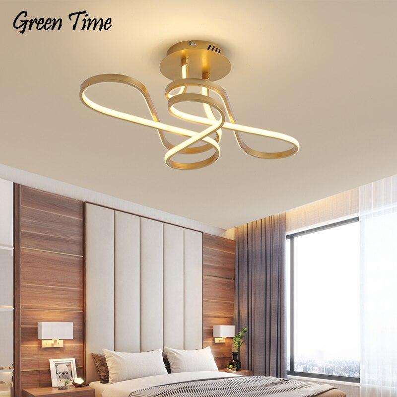 Современный светодиодный потолочный светильник для домашнего декора, металлические люстры для гостиной, спальни, столовой, потолочные лам...