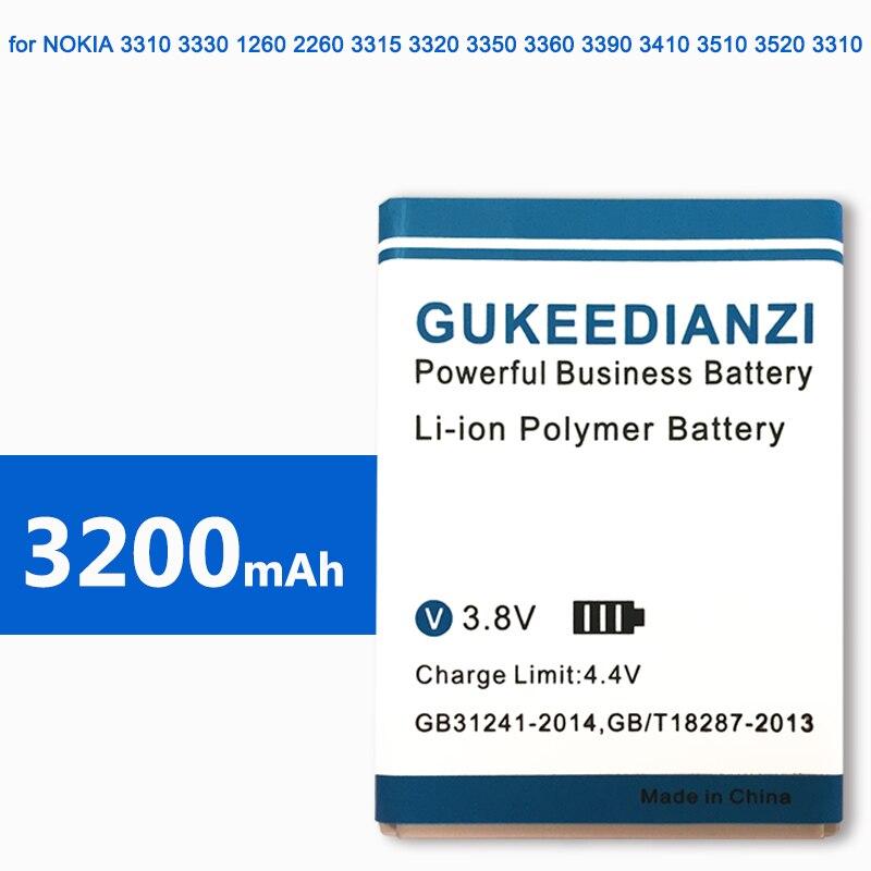 GUKEEDIANZI BLC-2 BLC2 de la batería del teléfono móvil para Nokia 3310, 3330, 3410, 3510, 5510, 3530, 3335, 3686, 3685, 3589, 3315, 3350, 3510, 6650, 6800