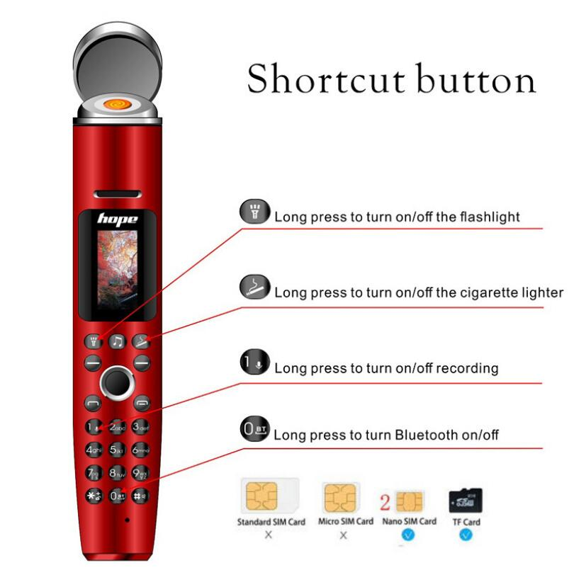 Mobile Phone Cigarette Lighter Flashlight Dual Card Dual Standby Creative Standby Dialer Mp3 Music Player enlarge