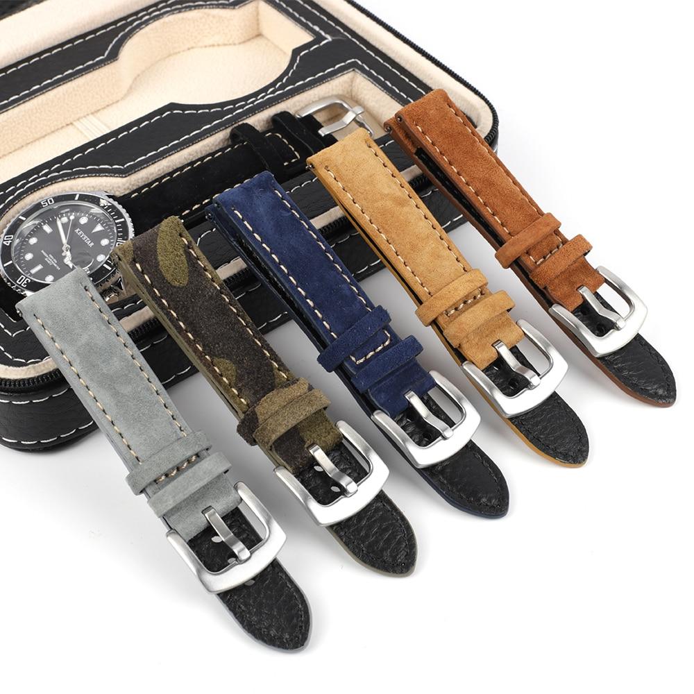 Ante nuevo Leathetr Correa 18mm 19mm 20mm Vintage hecho a mano reloj...