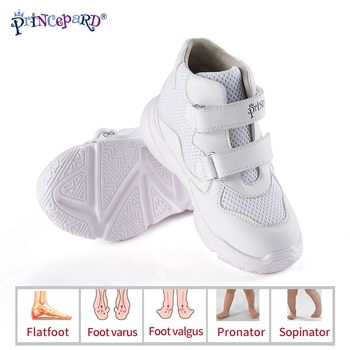 New Orthopedic Shoes for Kids Princepard Children Autumn Sports Sneaker Navy White add Orthopedic Insoles