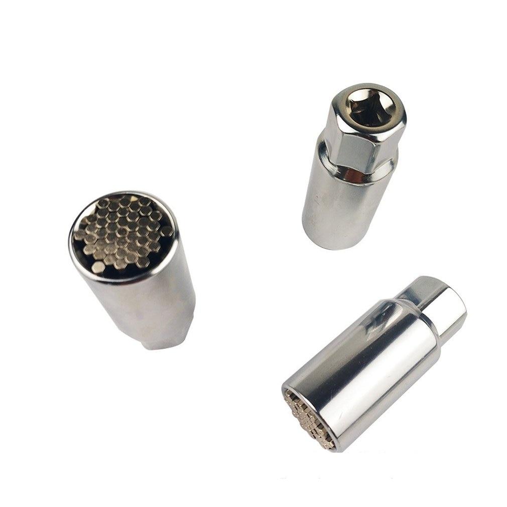 Universal Torque Wrench Head Set Socket Hex Sleeve 9-21mm Power Drill Ratchet Bushing Spanner Key Magic Multi Hand Tools