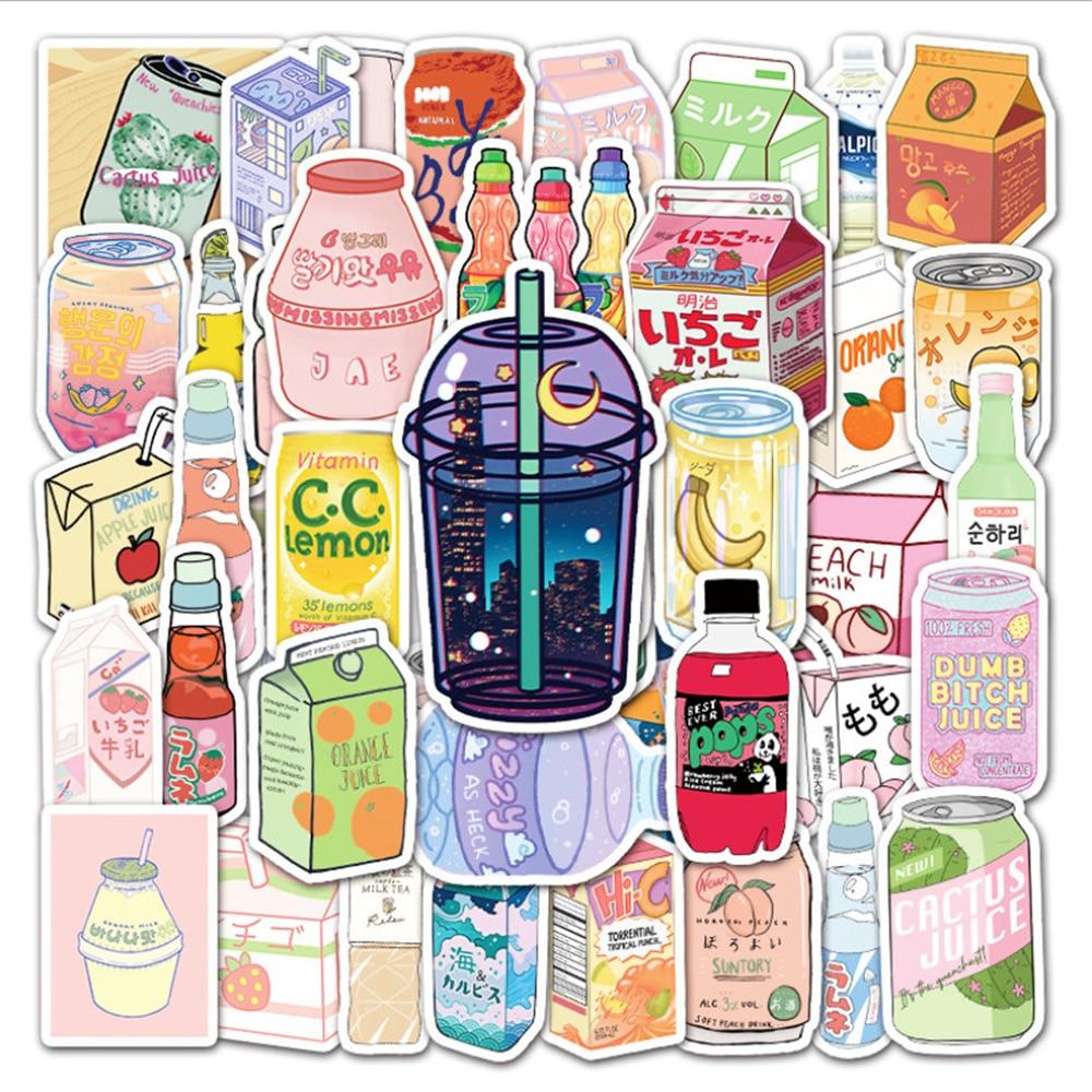 10/30/50PCS Cartoon Cute Drink Bottle Suitcase Graffiti Laptop Hand Account Waterproof Sticker Toy Wholesale