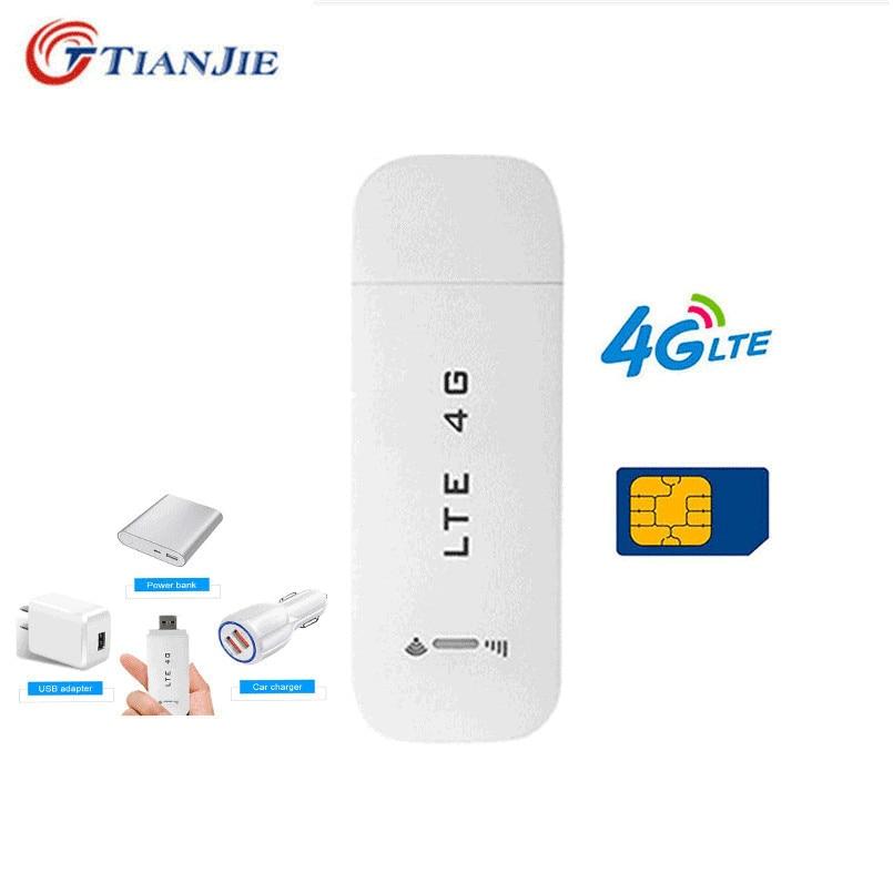 TianJie 3G/USB 4G router inalámbrico Wifi Router 4G LTE módem USB Mini Wifi Stick tarjeta Sim 4G datos Mobile Hotspot módem Dongle