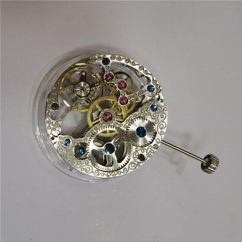 17 جواهر هيكل عظمي كامل 6498 اليد لف حركة استبدال ساعة قطع الغيار