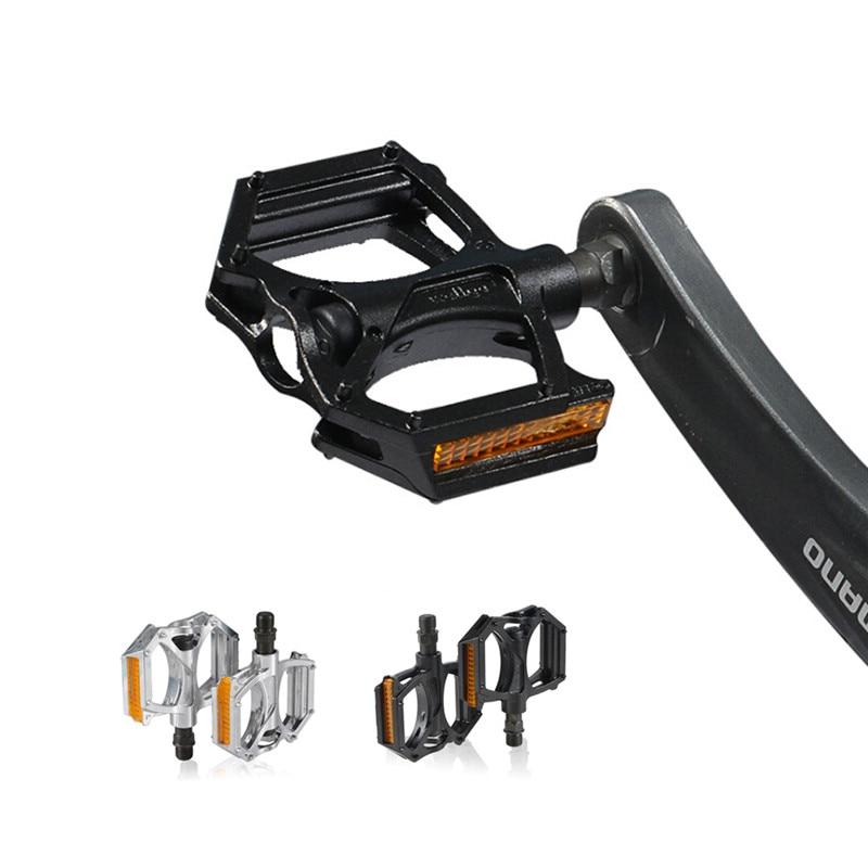 Pedal de aviación para bicicleta de carretera, pedales de aleación de aluminio ultralivianos para bicicletas de montaña, amplio Pedal para bicicletas de carretera