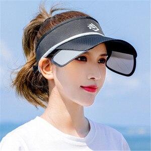 Woman White Letter Caps Cap Top Sun Hat Lady Outdoor Sunscreen Ultraviolet Retractable Lens Cap Hat Fashion Casual Black Sun Hat