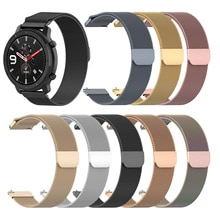 Для Huami Amazfit GTR 42 мм Смарт-часы стальной ремень Milan Loop Магнитный ремешок 20 мм ширина для Samsung для LG для TICWATCH 2