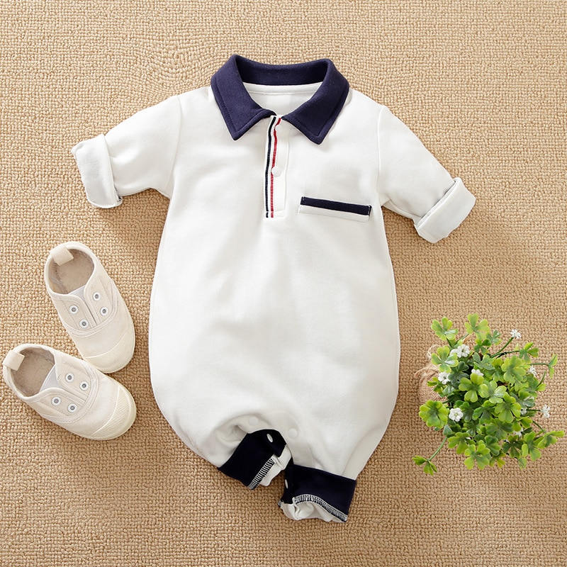 newborn baby clothes 100%cotton knit long sleeve baby girl romper summer toddler boy clothes fashion infant clothing Newborn 100% Cotton baby boy Romper Jumpsuit Infant Toddler Cute Long Sleeve Kids clothes spring autumn summer Baby Boy Costume