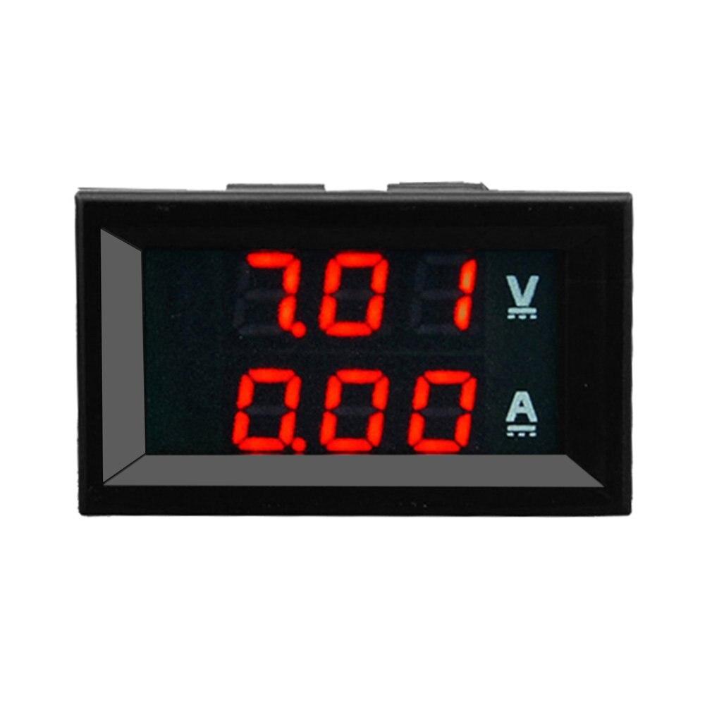 Вольтметр-амперметр, Цифровой вольтметр-Амперметр 100 в, с синим и красным светодиодным индикатором