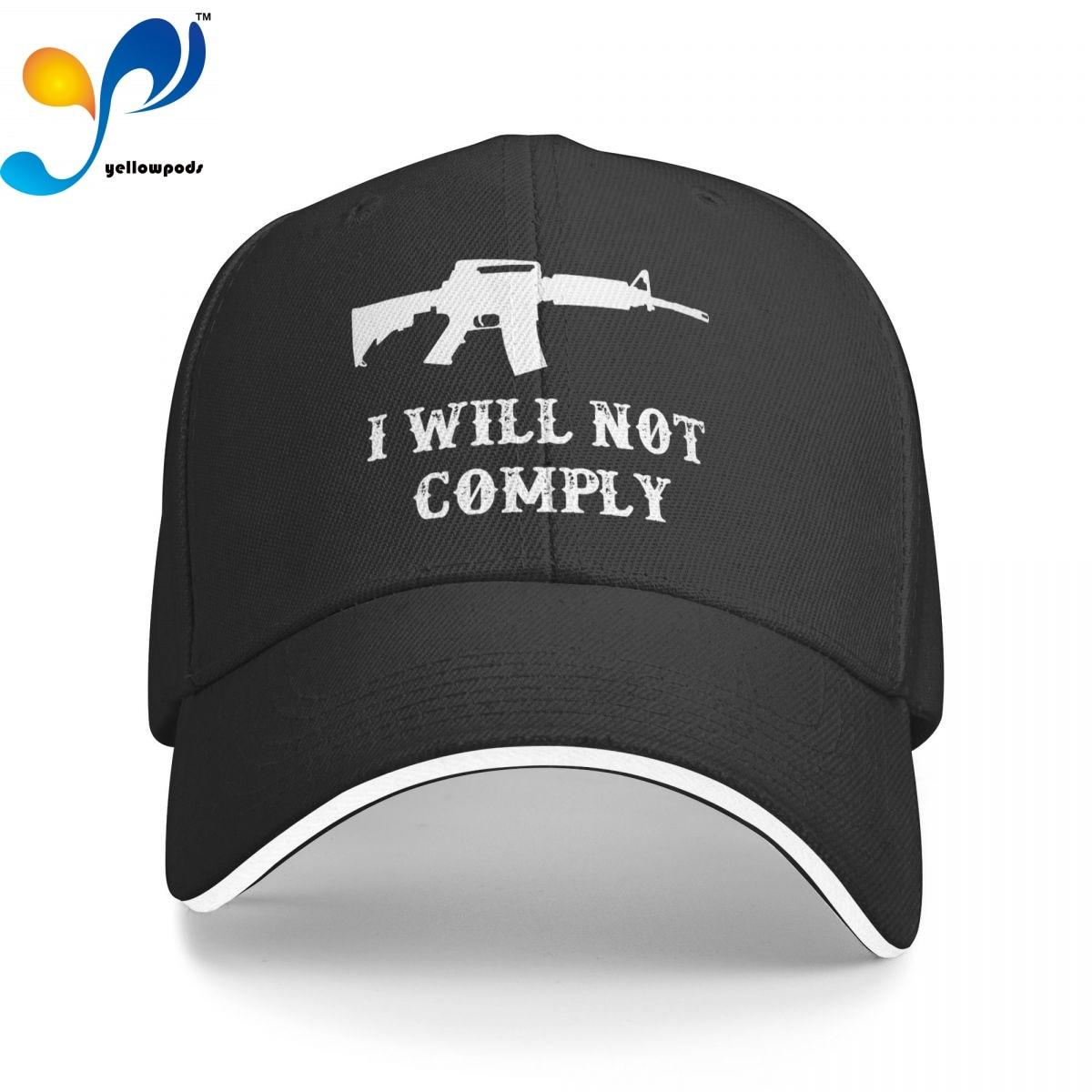 Бейсболка для мужчин, модные мужские кепки с логотипом «I Will Not Obey»