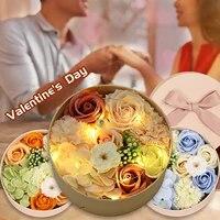 Boite cadeau pour la saint-valentin  petite boite ronde pour savon  Bouquet de Roses  decoration de mariage  maison  salon