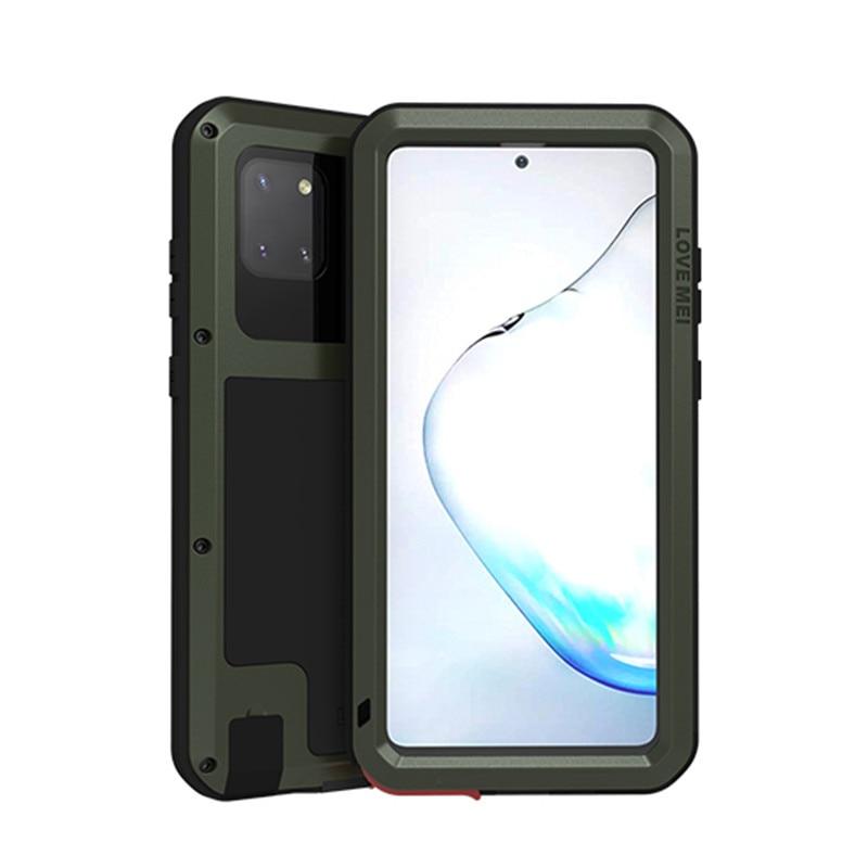 غلاف معدني قوي لهاتف Samsung Galaxy Note 10 Lite ، جراب مقاوم للصدمات والأوساخ لهاتف Note 10 Lite