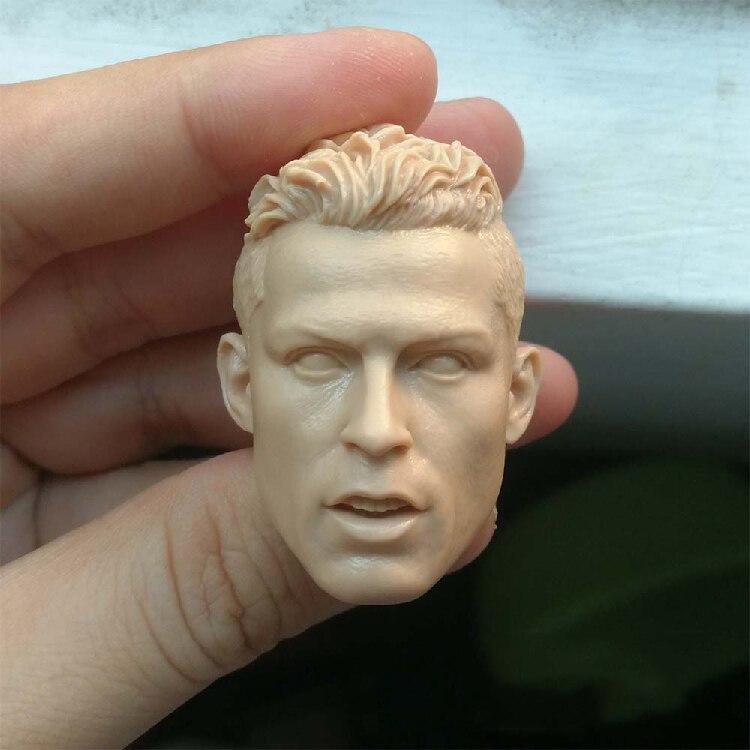 1/6 Cristiano Ronaldo Unpainted Head for 12''Action Figures Bodies