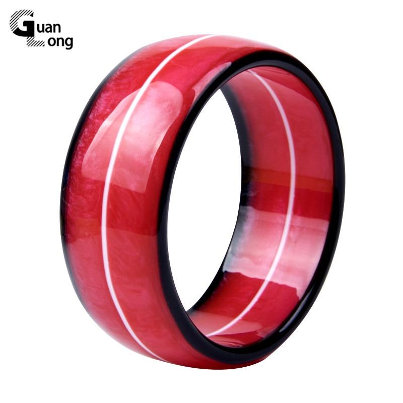 Guanlong moda charme elegante resina acrílico manguito pulseira grande círculo colorido moda jóias pulseiras & pulseiras feminino