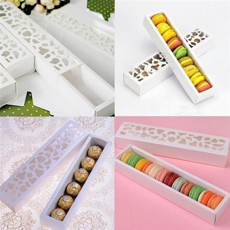 10 pçs caixas de bolo de biscoito chocolate macarons caixa de embalagem de presente de festa de casamento