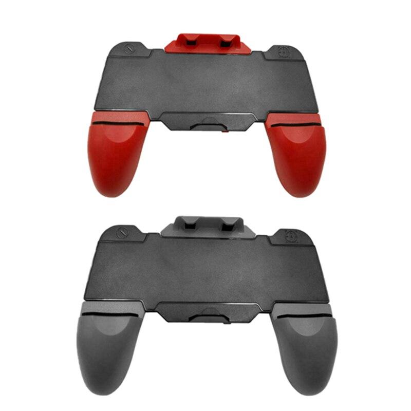 2x b15 bluetooth gamepad jogo gatilho telefone controlador botão de fogo manche para pubg stg fps (preto + vermelho & preto)