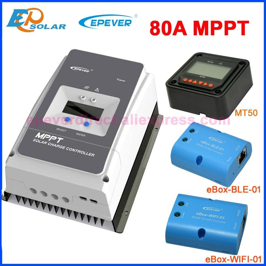 MPPT 80A الشمسية جهاز التحكم في الشحن 48 فولت/36 فولت/24 فولت/12 فولت بطارية الأرض السلبية ماكس 200 فولت PV VOC الشمسية تهمة منظم مع شاشة الكريستال السائل