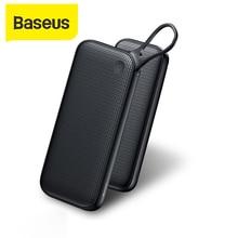 Baseus 20000mAh Power Bank PD QC3.0 быстрое зарядное устройство 2 USB Type C Быстрая зарядка портативное зарядное устройство для ноутбука для Iphone внешний аккум...