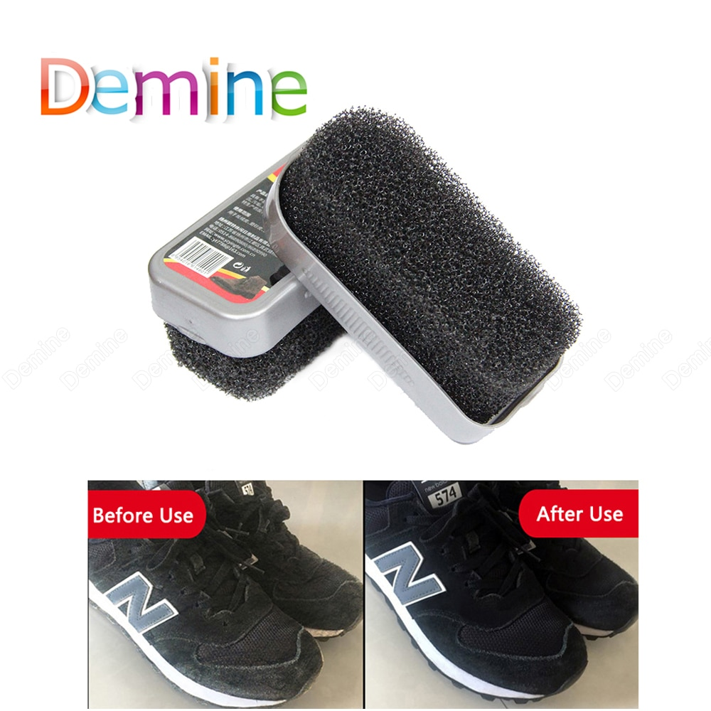 Demine Suede Shoe Cleaning Brush for Footwear Suede Boots Nubuck Velvet Bags Leather Shoe Care Sponge Cleaner Shoes Brush Polish bristles become warped head shoe brush polishing leather shoes polish wipe scrub fur soft hair