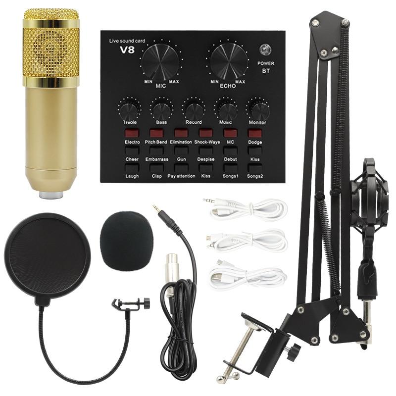 المهنية bm800 مكثف ميكروفون المهنية صوت ميكرفون تسجيل استوديو للكمبيوتر كاريوكي KTV راديو ميكروفون