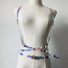 Nightclub DJ dance Strap Holographic sling Women Suspender