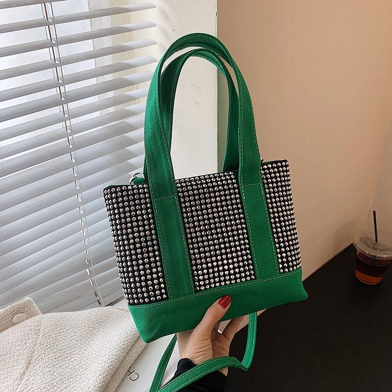 High Quality Hand Bags Women 2021New Bright diamond Handbags Fashion Luxury design Shoulder Bags Wes