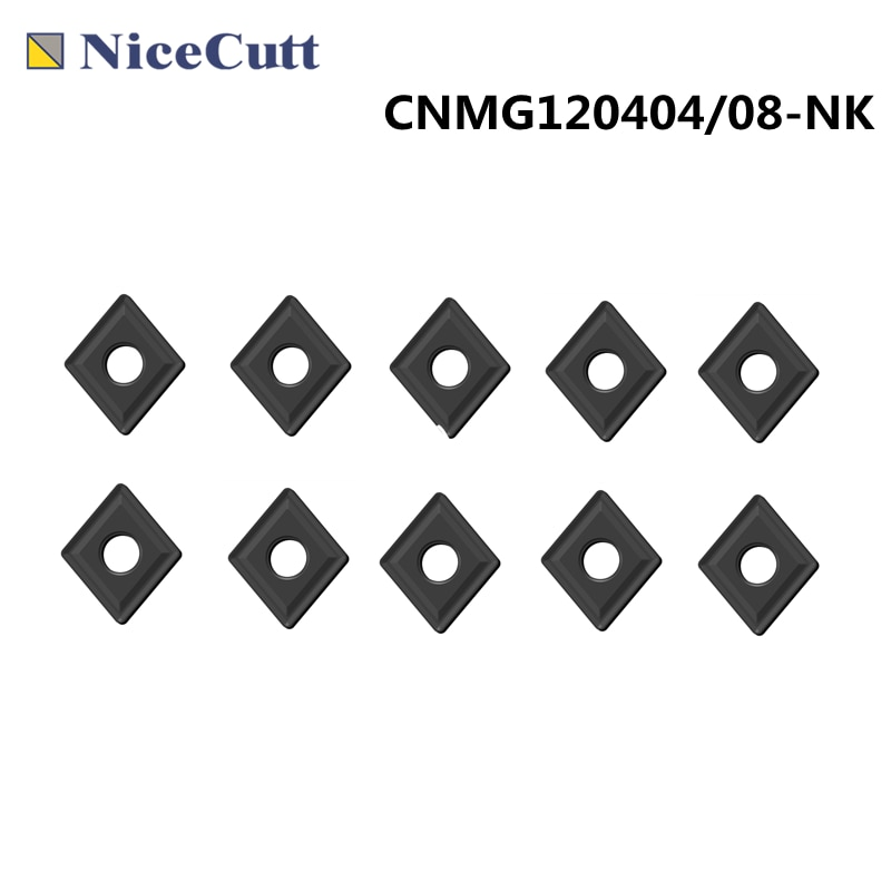 Nicecutt كربيد تحول إدراج 10 قطعة CNMG120404/08 تجهيز Castiron آلة خرط تعمل بالتحكم الرقمي بواسطة الحاسوب أدوات حامل آلة طحن شفرة