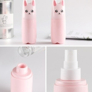 Portable Spray Bottle Cartoon Cat Animal Refillable Perfume Atomizer Spray Bottles Travel Cosmetic Liquid Empty Pump Container