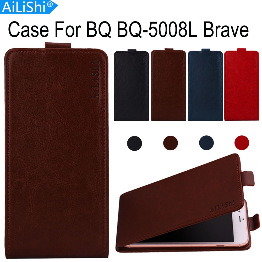 AiLiShi прямо с завода! Чехол для BQ BQ-5008L Brave, роскошный кожаный чехол с откидной крышкой, эксклюзивный 100% специальный чехол для телефона