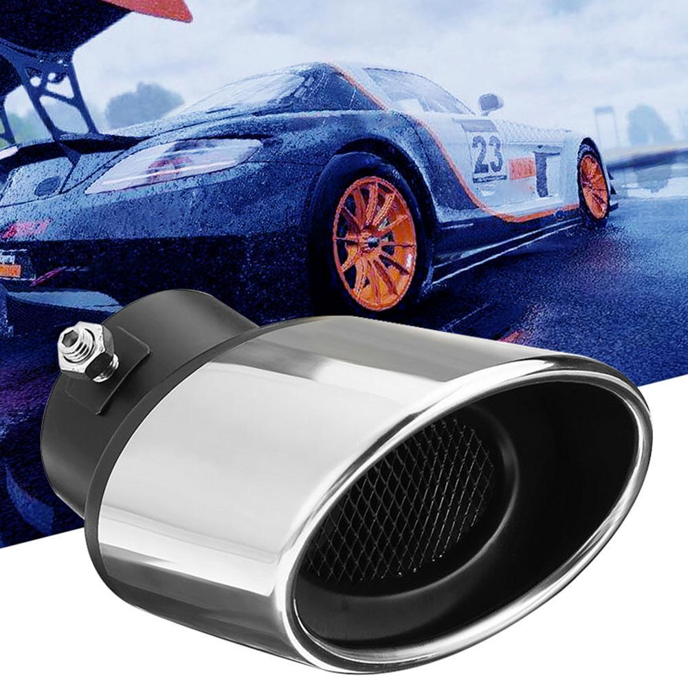 Durável universal carro veículo traseiro curva tubo de escape cauda silenciador ponta acessórios