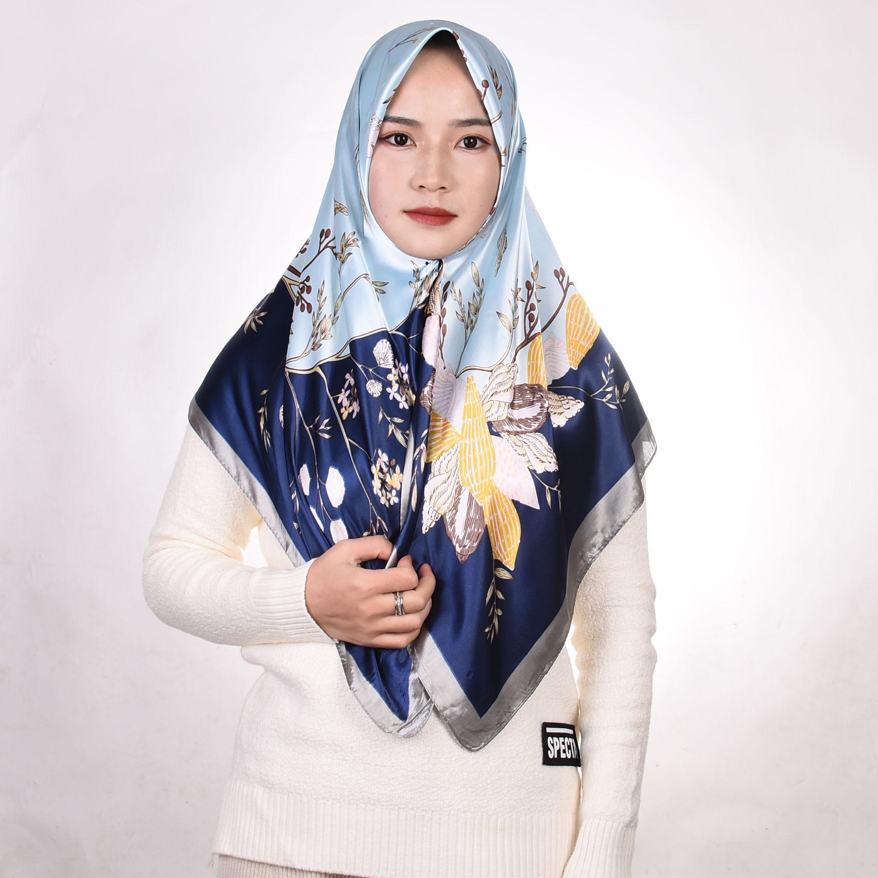 2021 spring new silk scarf women summer autumn Muslim square