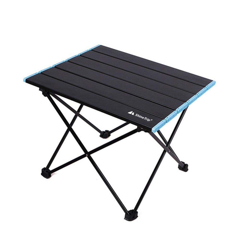Mesa plegable para acampar al aire libre, aleación de aluminio, portátil, para Picnic, barbacoa, escritorio pequeño