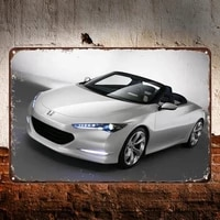 sport car metal tin sign office decor wall art decals high quality wall posters