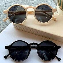 Occhiali da sole rotondi retrò donna Designer di marca occhiali da sole Vintage con montatura piccola occhiali da donna stile coreano occhiali da pesca UV400