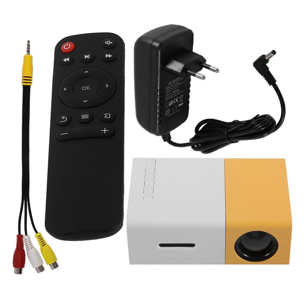 YG300 المهنية جهاز عرض صغير كامل HD1080P المسرح المنزلي جهاز عرض (بروجكتور) ليد LCD مشغل وسائط الفيديو العارض الأصفر و الأبيض